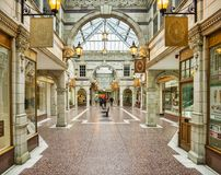 Chester Shopping Arcade Stock Images
