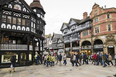 Chester Shopping Rows royalty-vrije stock afbeeldingen