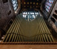 CHESTER, UK - 8TH MARCH 2019: A close up of Chester Organ stock photo