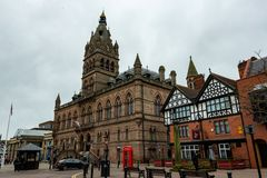 CHESTER, UK - 8TH MARCH 2019: The stunning Chester town hall taken in Spring 2019 royalty free stock image
