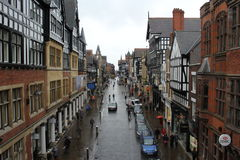 Chester. View on Chester from Eastgate bridge. England. United Kingdom stock photography