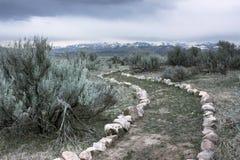 chesterfield Айдахо стоковое фото