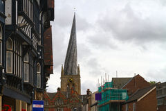 Chesterfield böjde spiren arkivbild