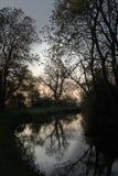 Chesterfield-Kanal, Drakeholes, früher Morgen Lizenzfreies Stockfoto