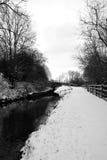 Chesterfield-Kanal im Schnee Lizenzfreie Stockfotos