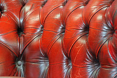 Chesterfield leather suite fabric Stock Images
