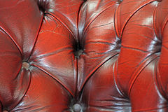 Chesterfield leather suite fabric Stock Image