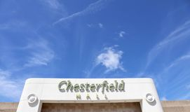 Chesterfield Mall at Saint Louis, Missouri. Chesterfield Shopping Mall located just outside the city of St. Louis, Missouri Royalty Free Stock Image