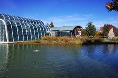 Chesterfield, MO 10 novembre 2017, casa della farfalla del giardino botanico del Missouri osservata dal san Louis County Park fotografia stock libera da diritti