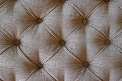 Chesterfield Pattern Sofa or Ottoman Coffee Table Royalty Free Stock Image