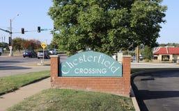 Chesterfield zakupy placu skrzyżowanie, Chesterfield, MO Zdjęcie Stock