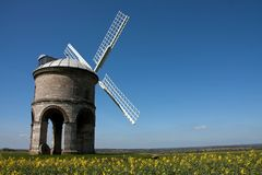 Chesterton Mill. A historic landmark made of hard local limestone overlooking the Fosse Way Stock Photo