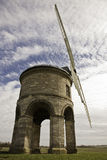 Chesterton Windmill. Wide angle of Chesterton Windmill in Warwickshire against a blue sky Royalty Free Stock Photo