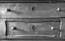 Chesth of drawers. Chest of drawers black and white Royalty Free Stock Photo