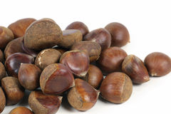 Chestnut. Isolated on a white background Royalty Free Stock Photos