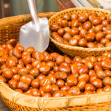 Chestnut in Bamboo Basket Royalty Free Stock Photos