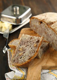 Chestnut bread with walnuts Stock Image