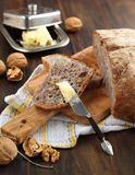 Chestnut bread with walnuts Stock Photography