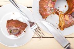 Chestnut cake bread dessert Stock Photography