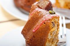 Chestnut cake bread dessert Stock Image
