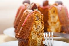 Chestnut cake bread dessert Royalty Free Stock Photo