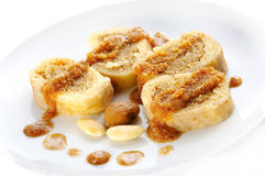 Chestnut cake with leavened dough Royalty Free Stock Photo