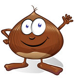 Chestnut cartoon isolated Royalty Free Stock Photography