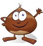 Chestnut cartoon isolated Royalty Free Stock Photography