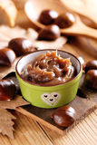 Chestnut cream in the bowl Stock Photo