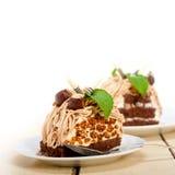 Chestnut cream cake dessert Royalty Free Stock Photo