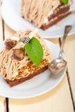 Chestnut cream cake dessert Stock Image