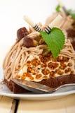 Chestnut cream cake dessert Royalty Free Stock Photos