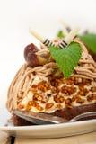 Chestnut cream cake dessert Royalty Free Stock Images