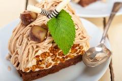 Chestnut cream cake dessert Royalty Free Stock Image