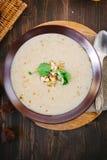 Chestnut cream soup stock images