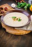 Chestnut cream soup stock photos