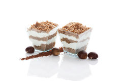Chestnut dessert. Royalty Free Stock Photography