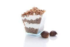 Chestnut dessert. Royalty Free Stock Photos