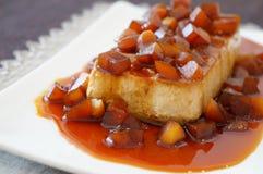Chestnut Flan Stock Photo