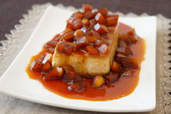 Chestnut Flan Royalty Free Stock Photos