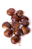 Chestnut fruit isolated on white Stock Image