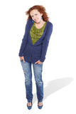 Chestnut-haired woman posing Royalty Free Stock Image