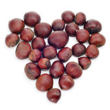 Chestnut heart Royalty Free Stock Images
