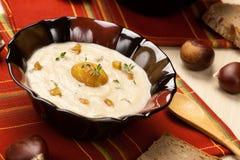 Chestnut Kohlrabi Soup Stock Image
