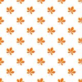 Chestnut leaf pattern seamless. Repeat background for any web design stock illustration