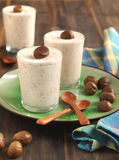Chestnut mousse - french dessert Stock Photography