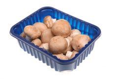 Chestnut Mushrooms. A punnet of chestnut button mushrooms stock images
