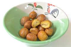 Chestnut with no shell Royalty Free Stock Photography