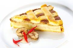 Chestnut pie. A piece of Chestnut pie Royalty Free Stock Photos