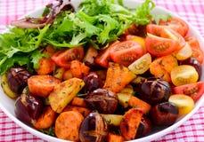 Chestnut and potato salad Stock Photos
